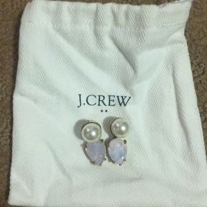 Cutest Pink and Pearl J.Crew Earrings